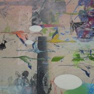 Avanti, Ausschnitt (Louise Rath, 2021, Siebdruckcollage, Stickerei)
