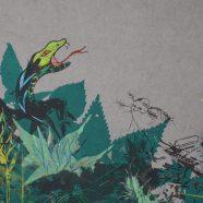 Moorstories, Ausschnitt (Louise Rath, 2021, Siebdruckcollage, Stickerei)